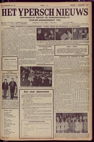 Het Ypersch nieuws (1929-1971) 1967-12-01