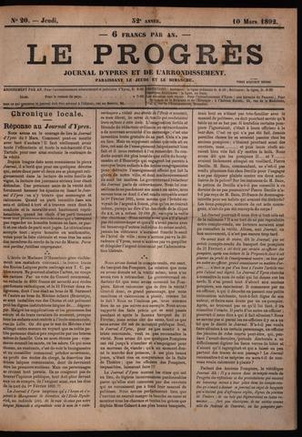 Le Progrès (1841-1914) 1892-03-10