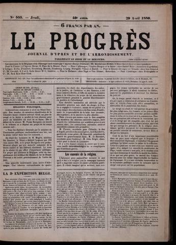Le Progrès (1841-1914) 1880-04-29