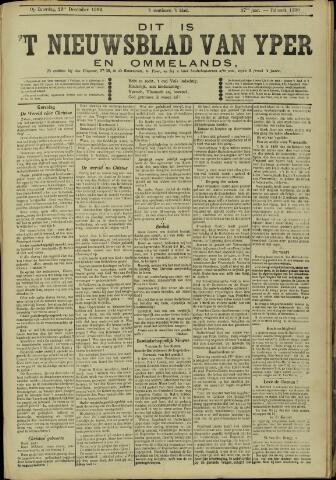 Nieuwsblad van Yperen en van het Arrondissement (1872 - 1912) 1902-12-20