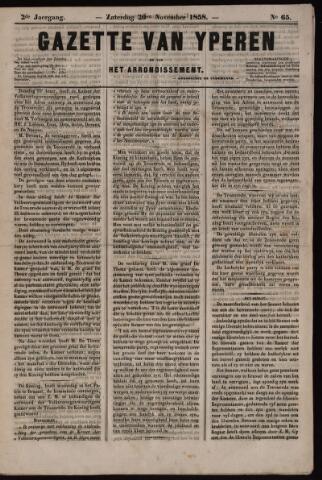 Gazette van Yperen (1857-1862) 1858-11-20
