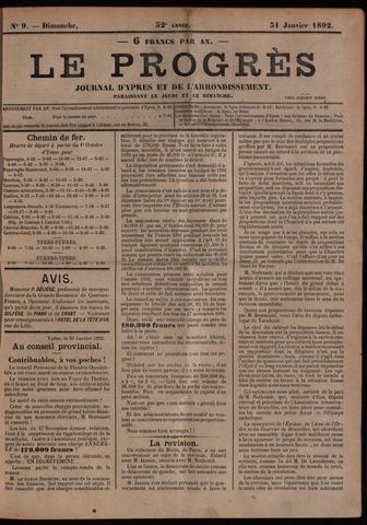 Le Progrès (1841-1914) 1892-01-31