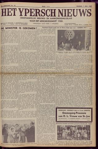 Het Ypersch nieuws (1929-1971) 1967-07-07