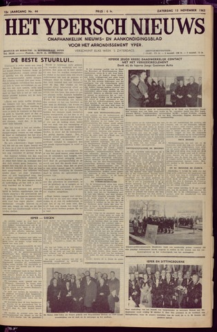 Het Ypersch nieuws (1929-1971) 1965-11-13