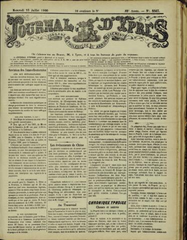 Journal d'Ypres (1874 - 1913) 1900-07-25