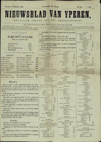 Nieuwsblad van Yperen en van het Arrondissement (1872 - 1912) 1881-10-29