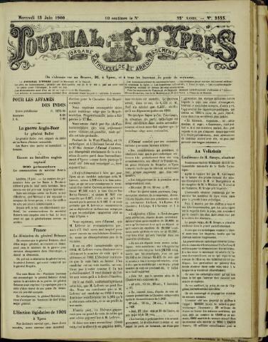 Journal d'Ypres (1874 - 1913) 1900-06-13