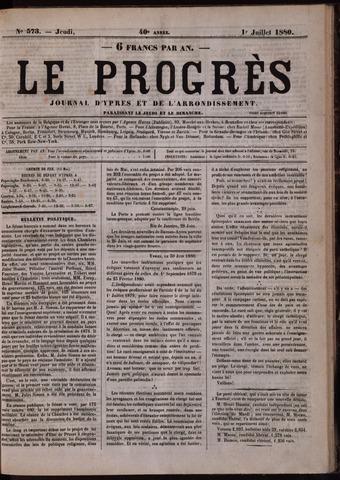 Le Progrès (1841-1914) 1880-07-01