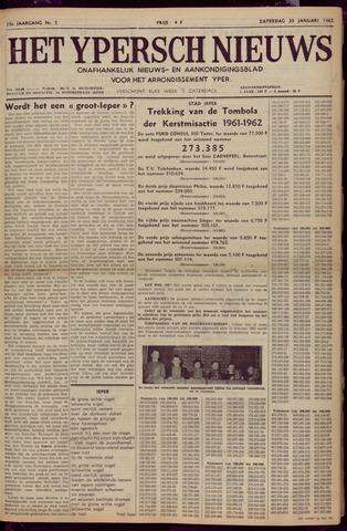 Het Ypersch nieuws (1929-1971) 1962-01-20
