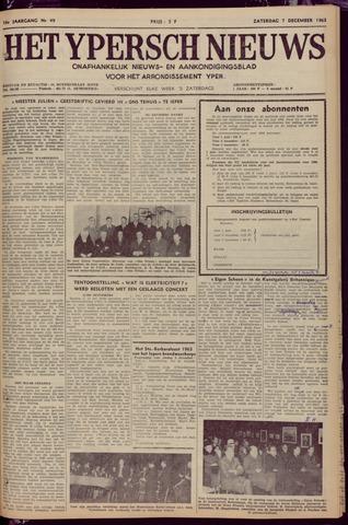 Het Ypersch nieuws (1929-1971) 1963-12-07