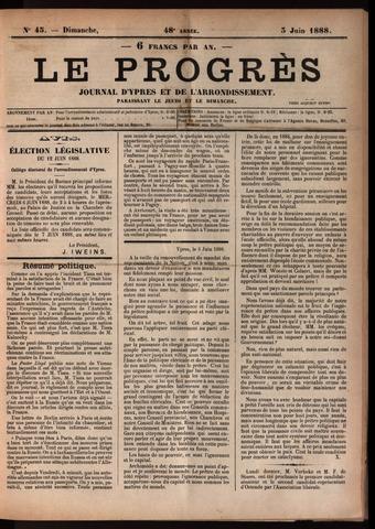 Le Progrès (1841-1914) 1888-06-03