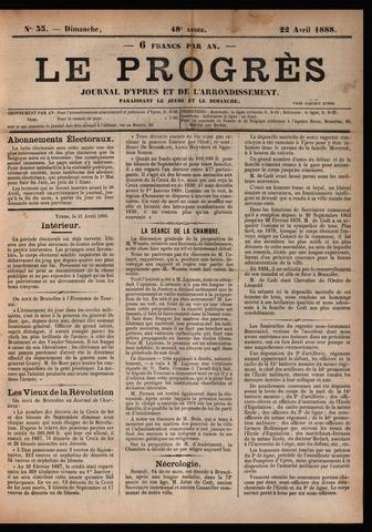 Le Progrès (1841-1914) 1888-04-22