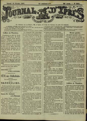 Journal d'Ypres (1874 - 1913) 1897-02-13
