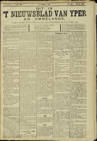 Nieuwsblad van Yperen en van het Arrondissement (1872 - 1912) 1899-04-01