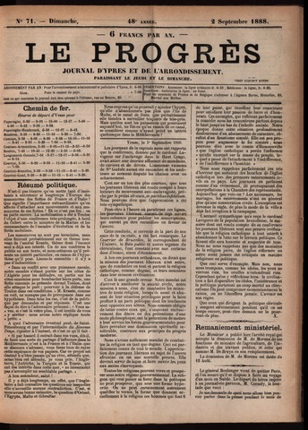 Le Progrès (1841-1914) 1888-09-02