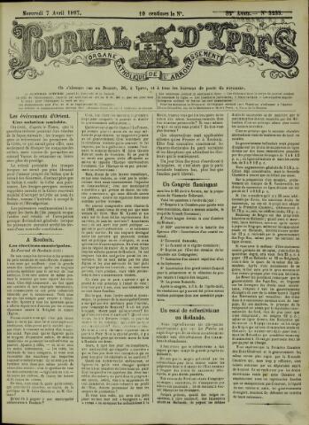 Journal d'Ypres (1874 - 1913) 1897-04-07