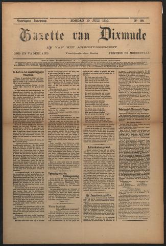 Gazette van Dixmude 1910-10-11