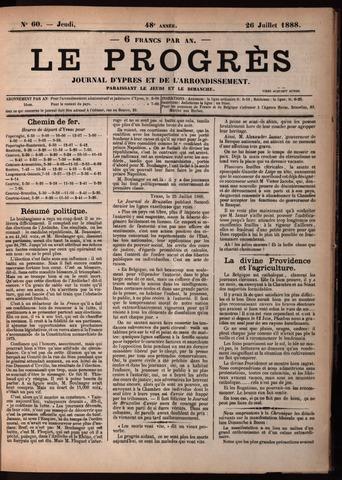 Le Progrès (1841-1914) 1888-07-26