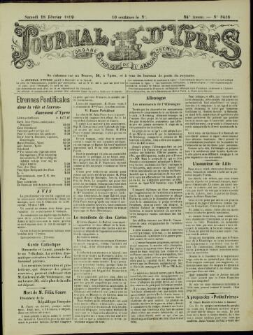 Journal d'Ypres (1874 - 1913) 1899-02-18