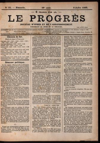Le Progrès (1841-1914) 1888-07-08