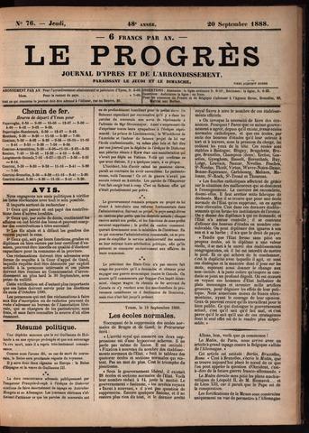 Le Progrès (1841-1914) 1888-09-20
