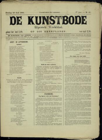 De Kunstbode (1880 - 1883) 1881-07-31