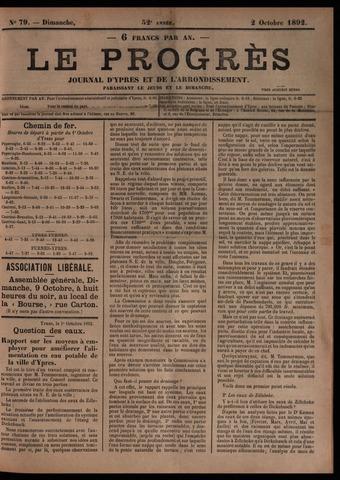 Le Progrès (1841-1914) 1892-10-02