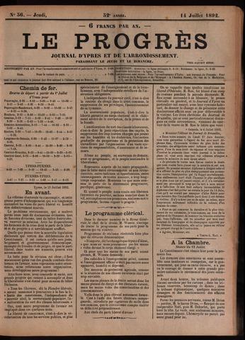 Le Progrès (1841-1914) 1892-07-14