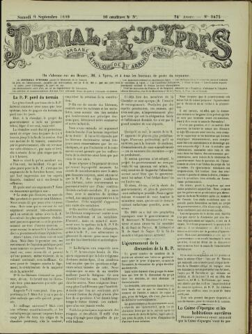 Journal d'Ypres (1874 - 1913) 1899-09-07