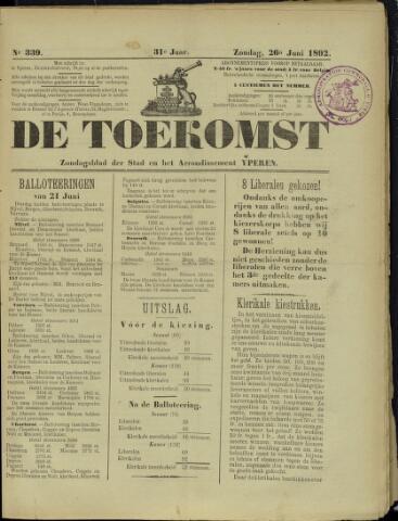 De Toekomst (1862 - 1894) 1892-06-26