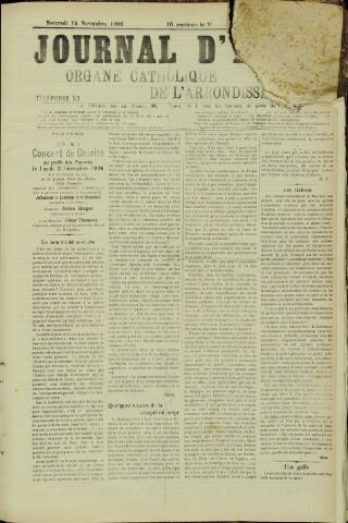 Journal d'Ypres (1874 - 1913) 1906-11-14