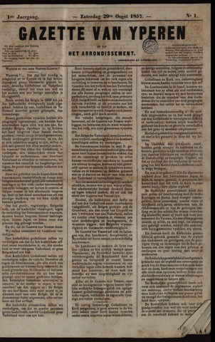 Gazette van Yperen (1857-1862) 1857-08-29