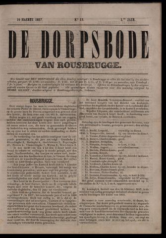 De Dorpsbode van Rousbrugge (1856-1857 en 1860-1862) 1857-03-10