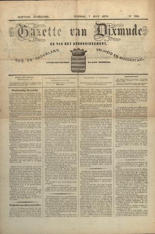 Gazette van Dixmude 1878-07-07