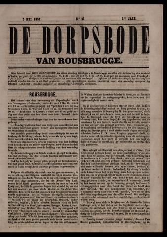 De Dorpsbode van Rousbrugge (1856-1857 en 1860-1862) 1857-05-05
