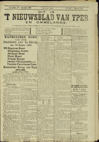 Nieuwsblad van Yperen en van het Arrondissement (1872 - 1912) 1899-09-30