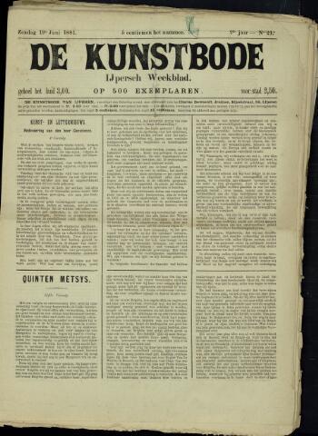 De Kunstbode (1880 - 1883) 1881-06-19