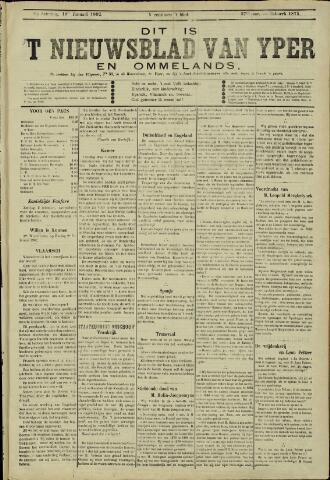Nieuwsblad van Yperen en van het Arrondissement (1872 - 1912) 1902-01-18