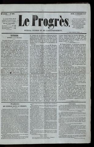 Le Progrès (1841-1914) 1847-02-18