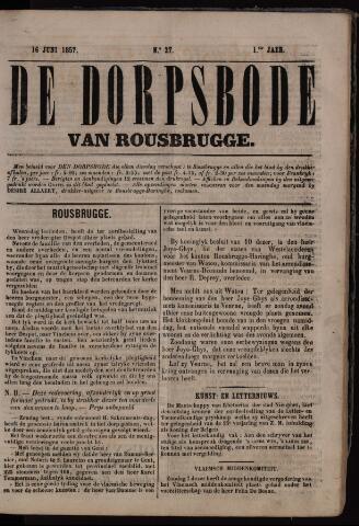 De Dorpsbode van Rousbrugge (1856-1857 en 1860-1862) 1857-06-16