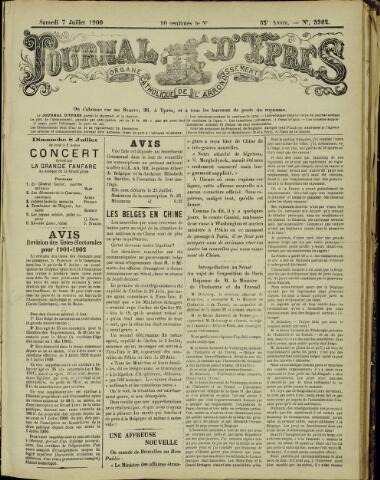 Journal d'Ypres (1874 - 1913) 1900-07-07