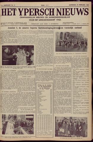 Het Ypersch nieuws (1929-1971) 1964-02-29