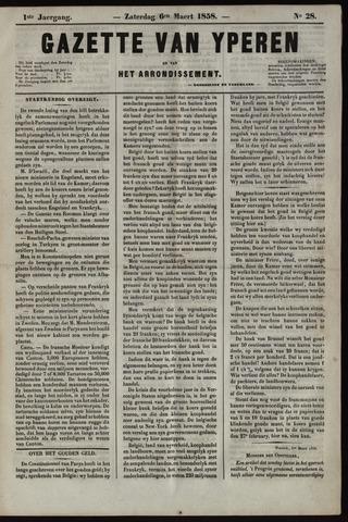 Gazette van Yperen (1857-1862) 1858-03-06