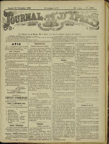 Journal d'Ypres (1874 - 1913) 1900-11-10