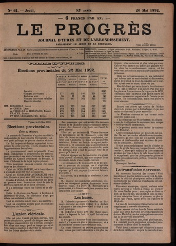 Le Progrès (1841-1914) 1892-05-26