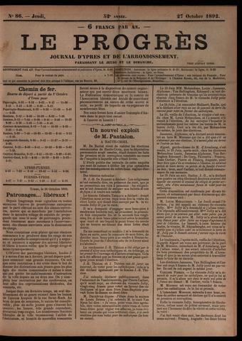 Le Progrès (1841-1914) 1892-10-27
