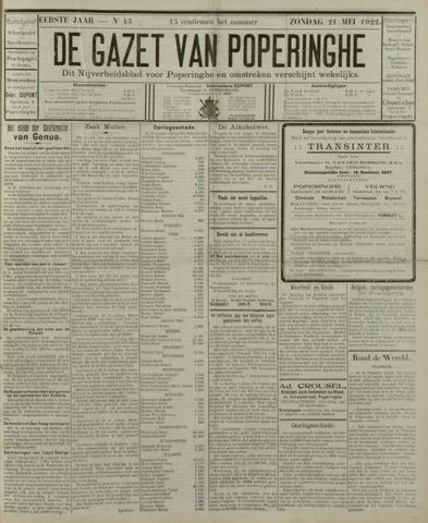 De Gazet van Poperinghe  (1921-1940) 1922-05-21