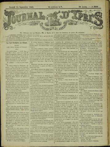 Journal d'Ypres (1874 - 1913) 1895-09-14