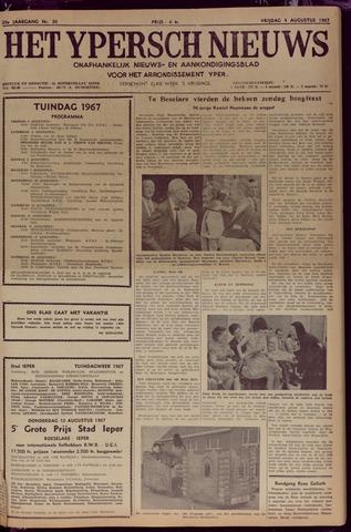 Het Ypersch nieuws (1929-1971) 1967-08-04