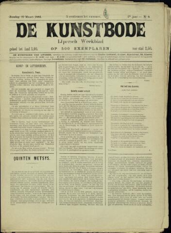 De Kunstbode (1880 - 1883) 1881-03-27